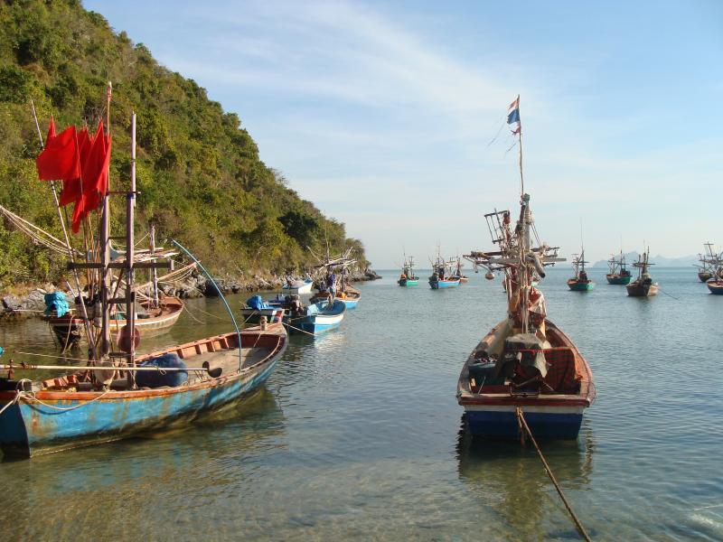 Thai Fishing Boats At Khao Kalok