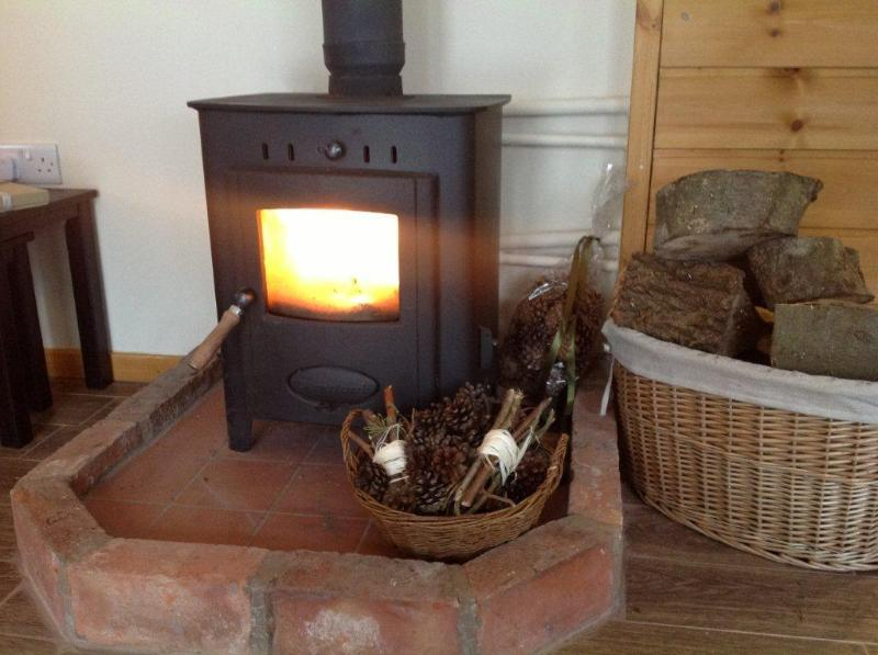 Cosy-up in front of the log burning stove