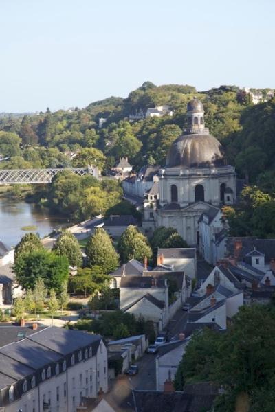 Vistas sobre el Loira por el paseo del castillo