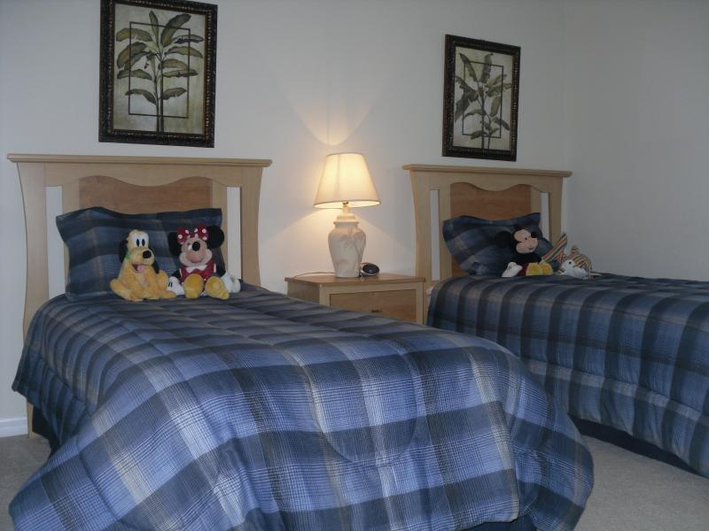 Bedroom 4 has twin beds, a Flat Screen Smart TV and a games console