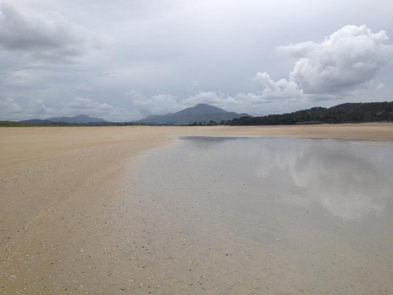 Tramore Beach quando le maree, può camminare da casa