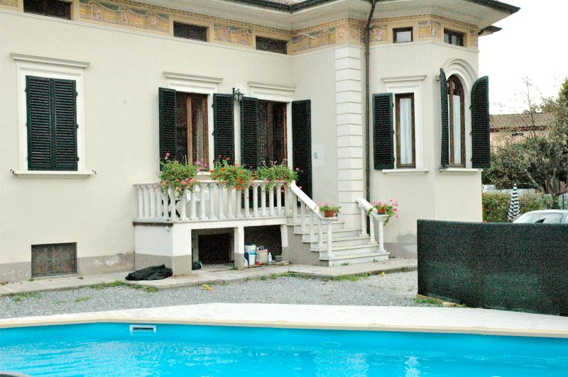 The villa with heated pool