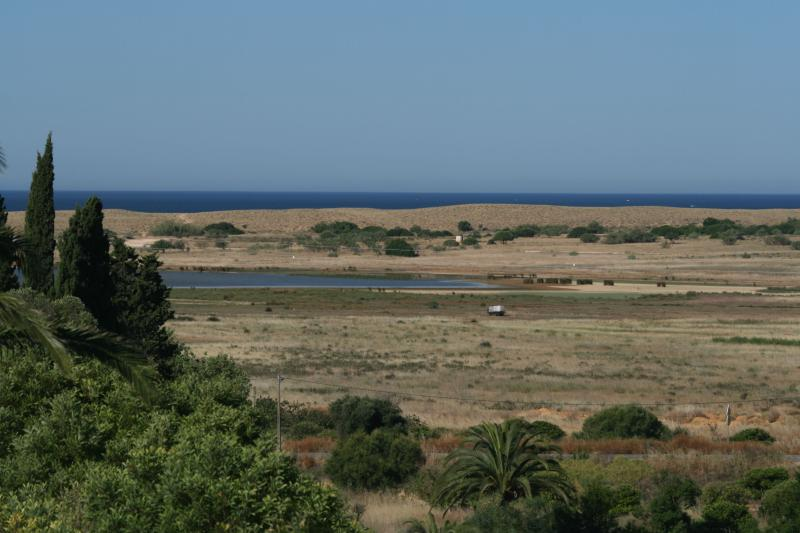 View towards the beach from the villa
