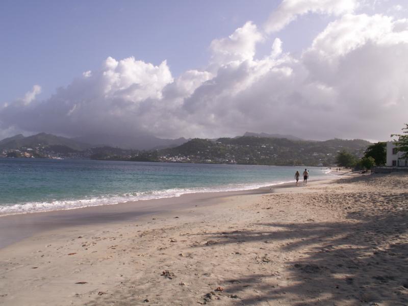 A stroll on Grand Anse beach