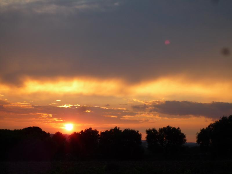 One of the wonderful sunsets from the property