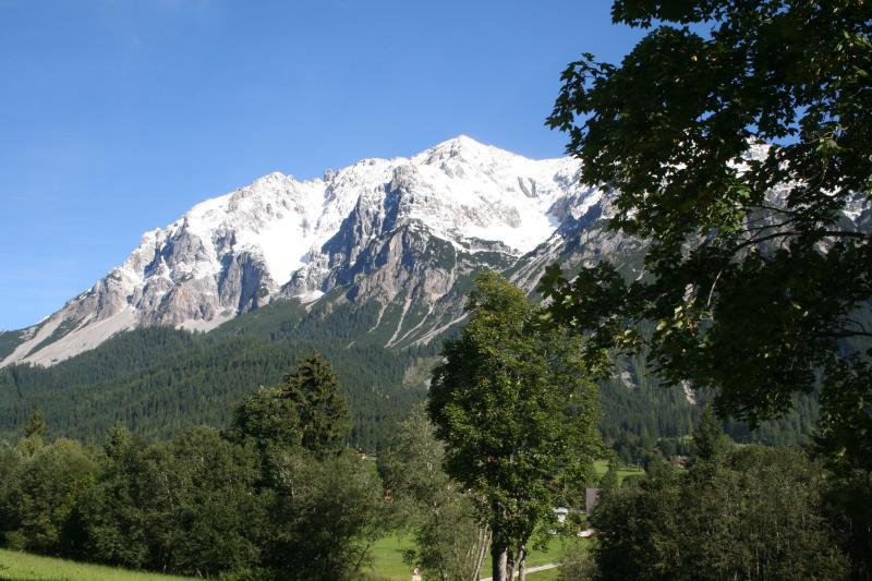 View to the north, to the Dachstein, from Haus Heidi Apartments