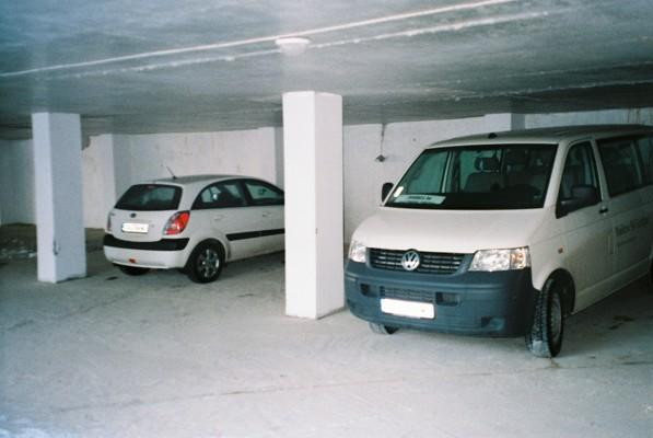 Picture of the vehicle which will take you to the ski runs, in under ground car park.