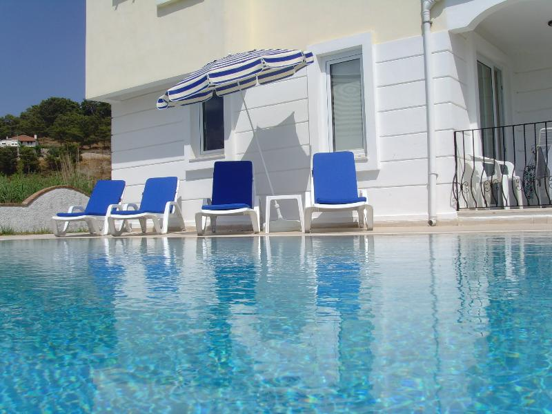 Pool and loungers