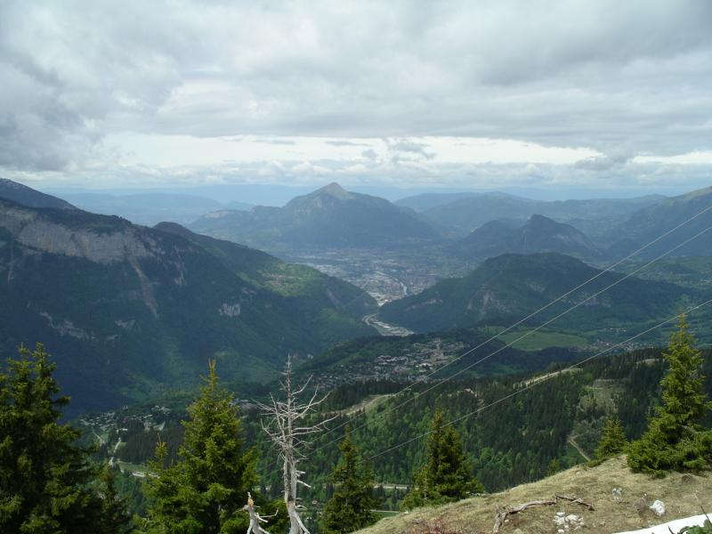 View across valley from Flaine in summer
