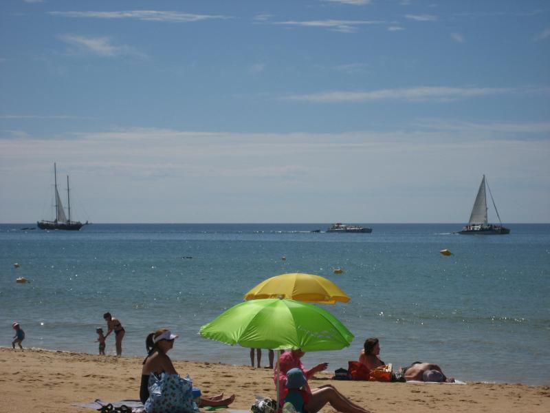 Luie dagen op het strand