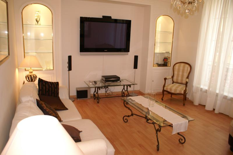 Elegant, unique 3 bedroom Central Cannes apartment with 40 Sq M private terrace, vacation rental in Cannes