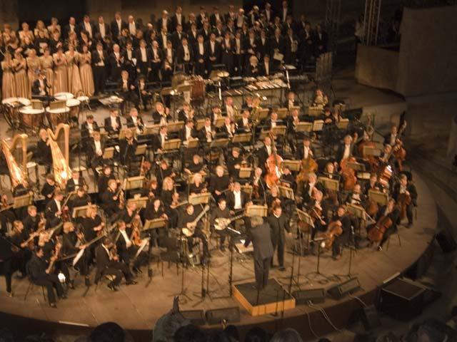 Enjoy an outdoor concert under the Acropolis