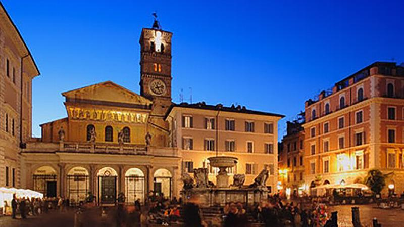 The magnificent piazza is a few steps from your door