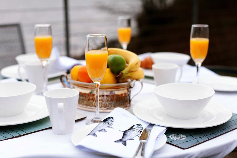 Breakfast on the decking..... you've all the time in the world at ShoreFront