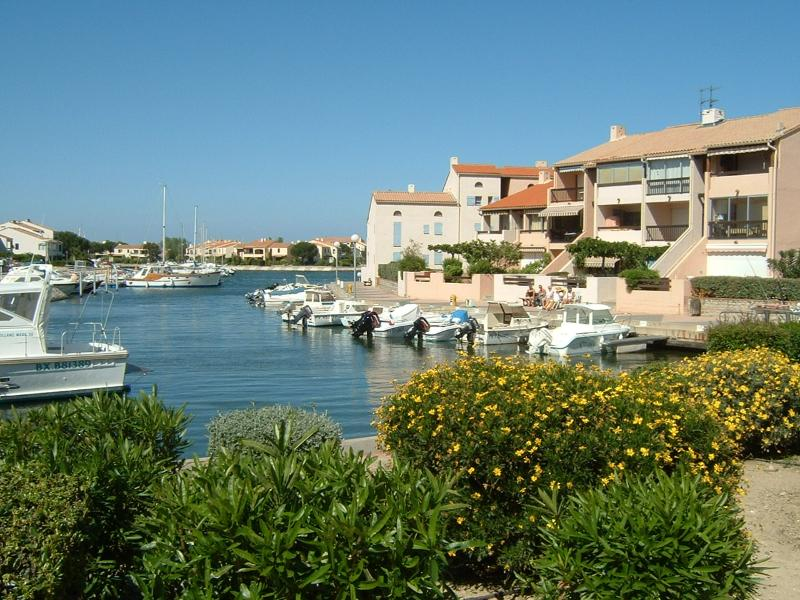 Lovely Petite Marina with Trees and Flowers