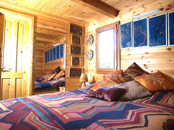 Artistically crafted double bedroom