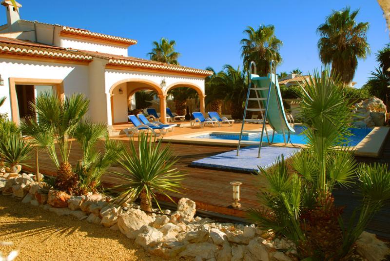 Private villa, pool and gardens