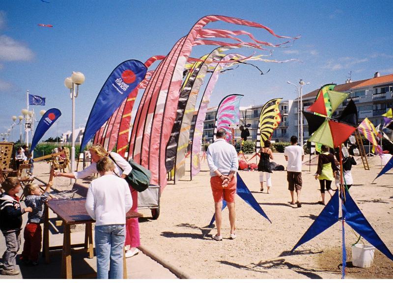 A kite festival at Notre Dame de Monts.