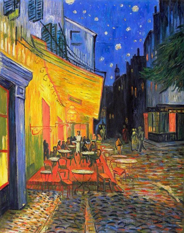 Vincent Van Gogh 'cafe terrace place du forum arles night' (nearby)