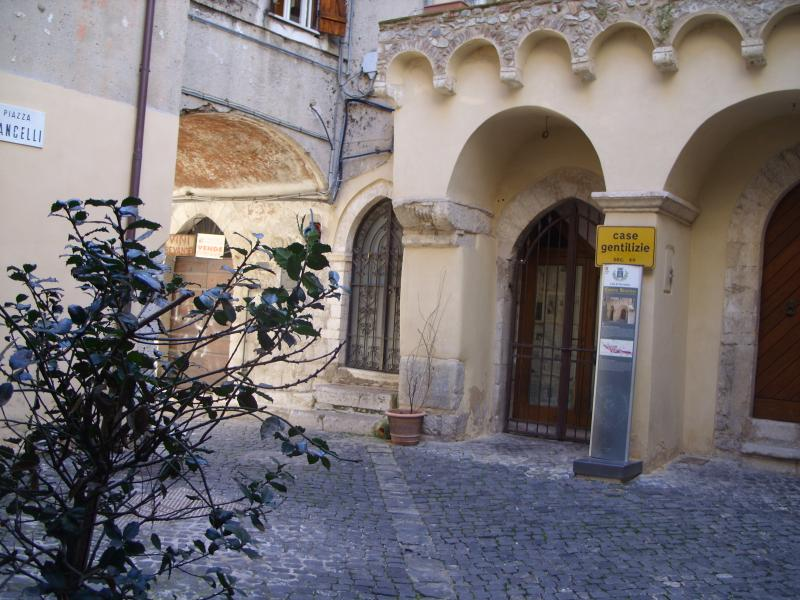 The entrance of the house