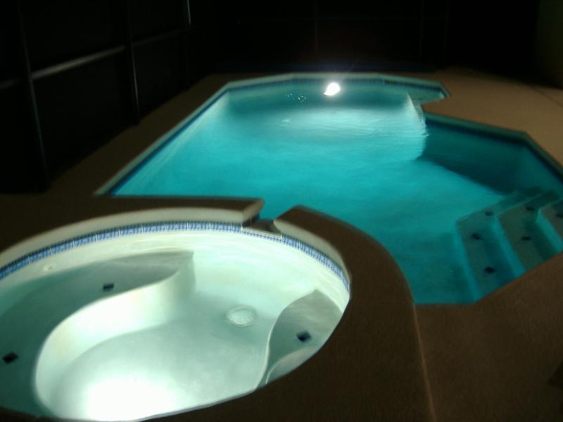 Swimming Pool and Spa Illuminated