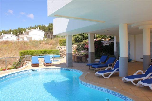 Pool Area with 8 Sunbeds and Shade when required also Dining Table & Chairs
