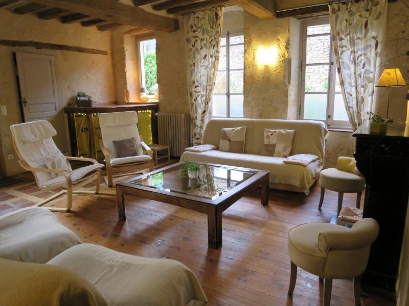 Le salon :  confortable et chaleureux