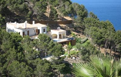 Luftaufnahme der villa