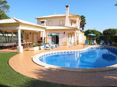 Exterior area of villa