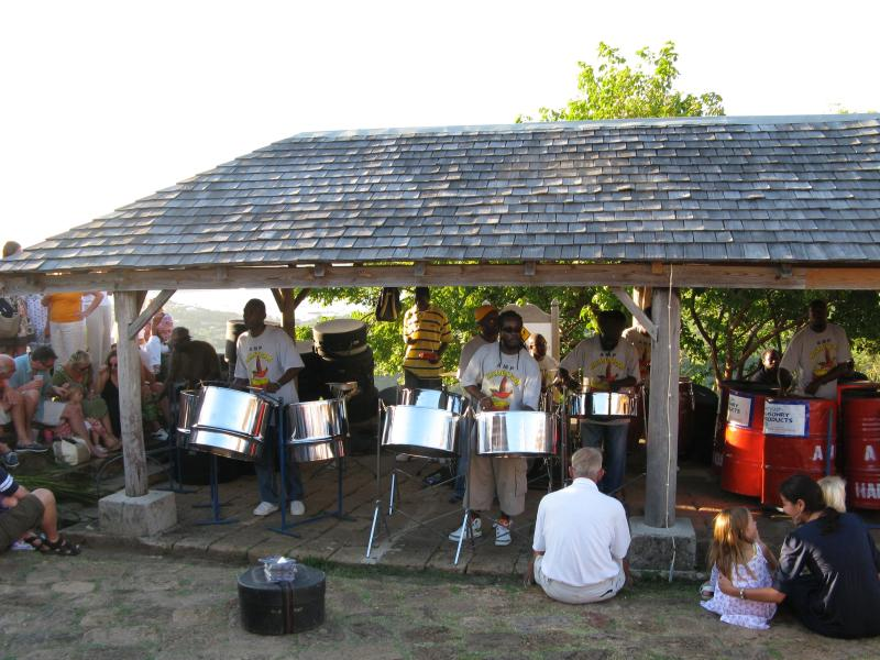 Watch the sun go down accompanied by the steel band at Shirleys Heights on Sunday evenings