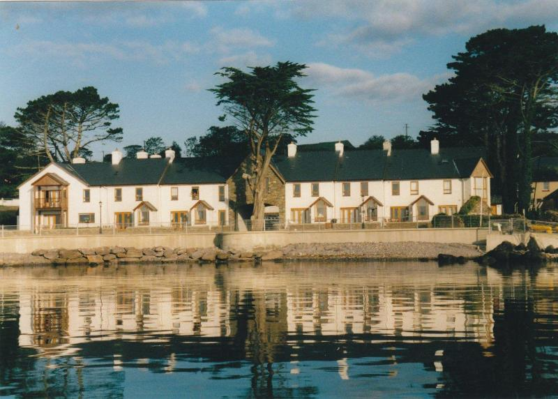 Direct view of Coatguard Cottages from the water