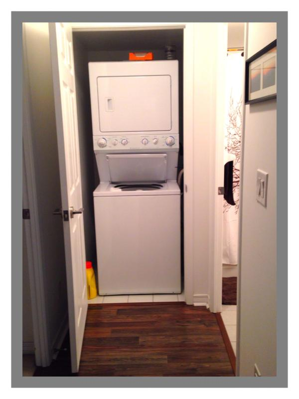 Ensuite Laundry Facilities with Detergent and Dryer Sheets