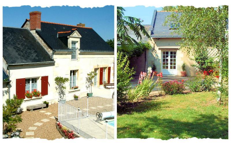 La Grange sover 6 i 3 rum med egna badrum. 4 sovplatser La Forge. Stor uppvärmd pool.