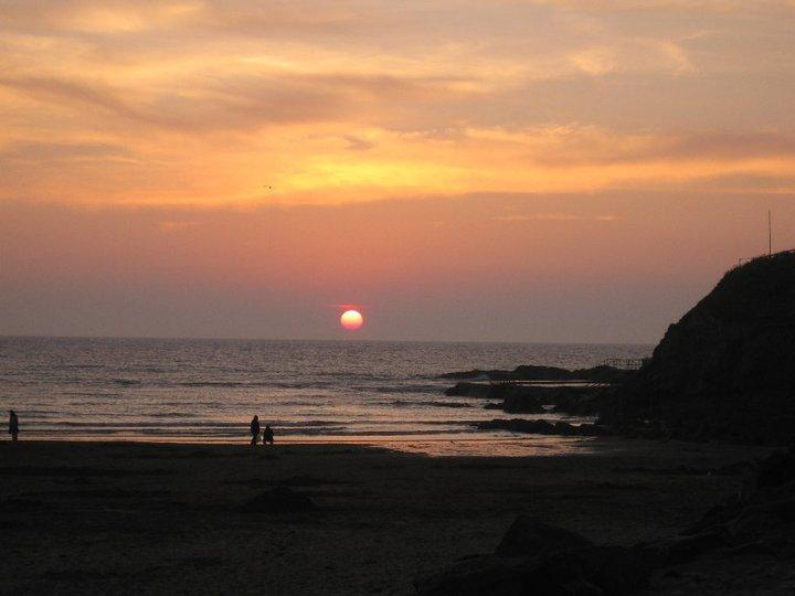Summerleaze Beach at sunset.