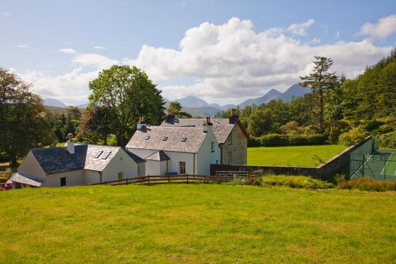 View of the Manse with Cuillin ridge behind