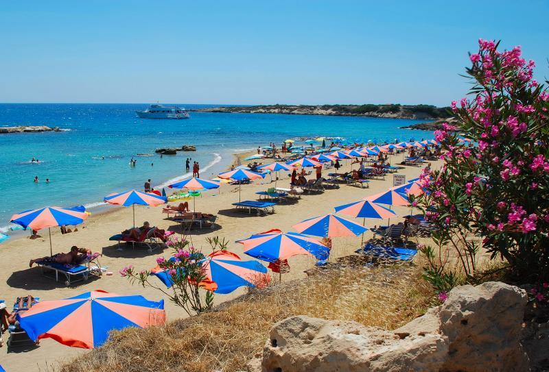 Corallia Beach, 15 mins walk from Villa Coralie