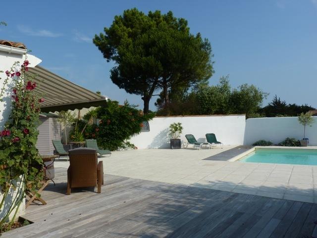 sunny large terrace
