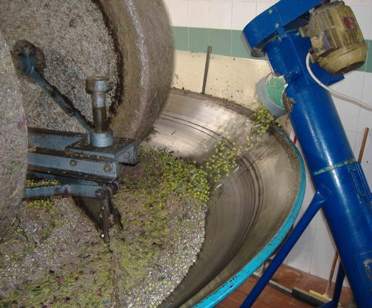The stones in the olive press