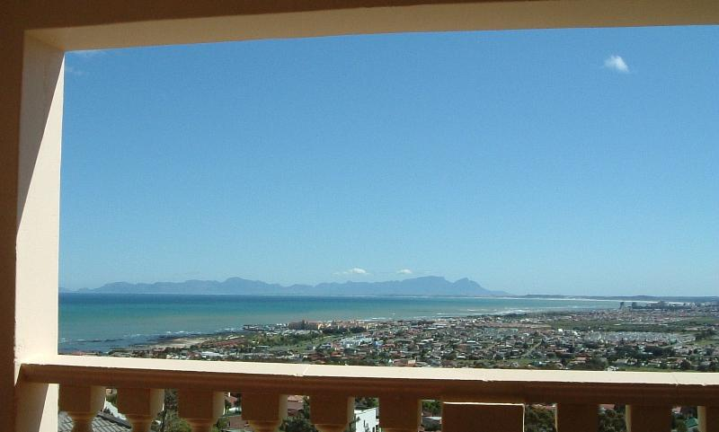 View from Merlot Balcony across to the back of Table Mountain
