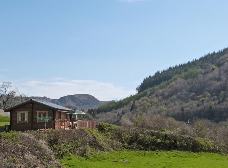 Log cabin in a wonderful setting near Betws y Coed, Snowdonia