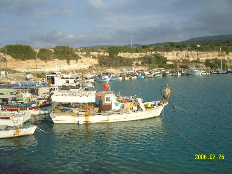 Old fishing harbour along the Karpaz