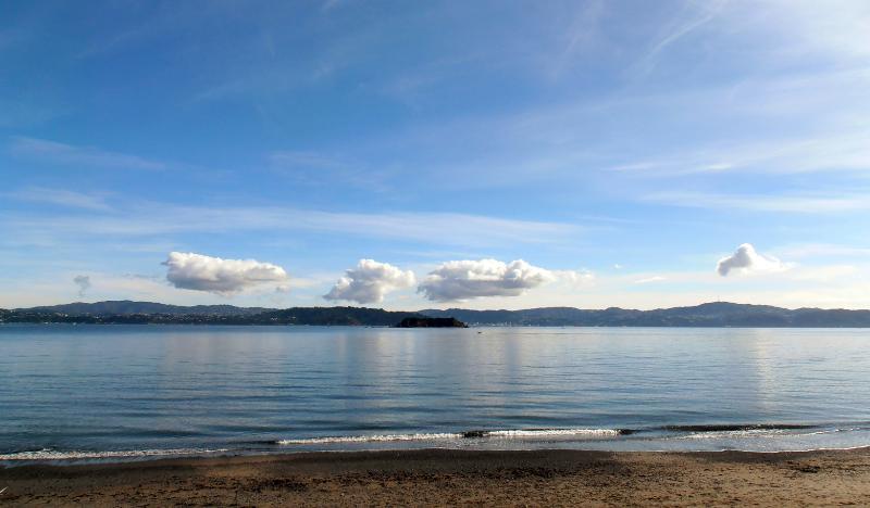Outro dia deslumbrante, olhando para o Wellington