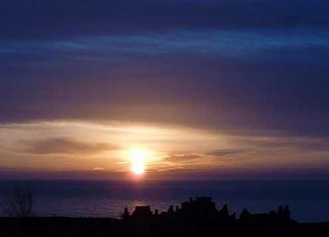 Sunrise over Dunnottar Castle