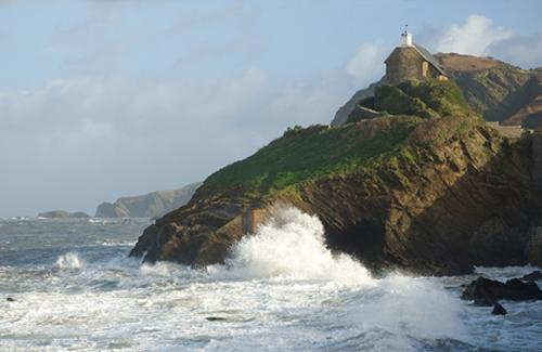Chaple over looking Ilfracombe harbour