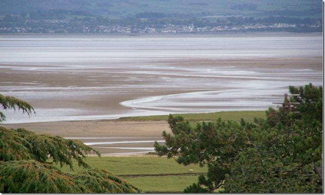 View of Morecambe bay from the lounge window