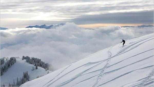 Ski de montagne de poudre, Utah