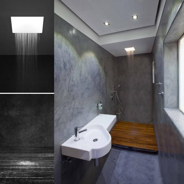 Ensuite with a fantastic extra large walk-in rain shower!