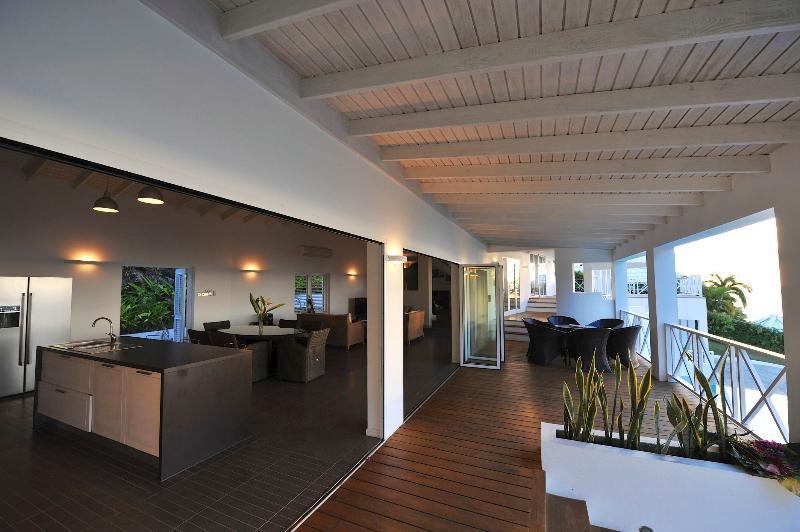 Large living/patio area