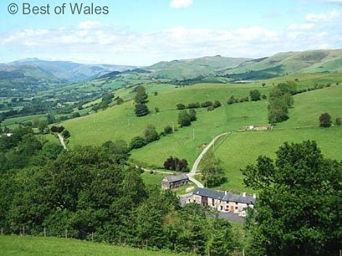 Cottage with a play area and games room, situated in its own secluded valley