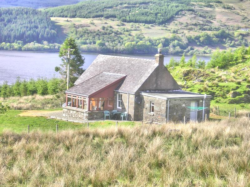 Finchairn Cottage is set on a hillside in a remote location up a farm track with staggering views.